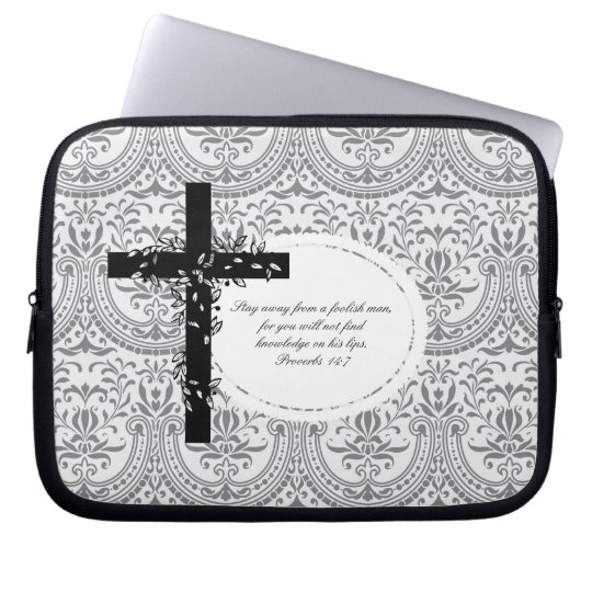 Proverbs 14:7 Laptop or Netbook Carrier Sleeve