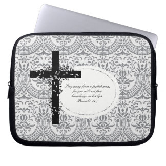 Proverbs 14:7 Laptop or Netbook Carrier Sleeve Laptop Sleeves