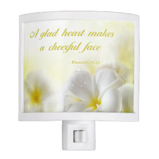 Proverbs 15:13 | Bible Vers | Yellow Floral Night Lites