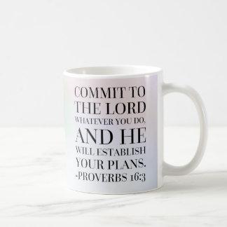 Proverbs 16:3 Bible Quote Coffee Mug