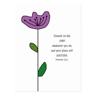 Proverbs 16:3 Scripture Postcard