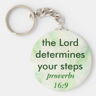 proverbs 16:9 keychain