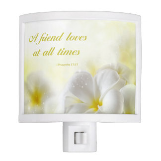 Proverbs 17:17 | Bible Verse | Yellow Floral Nite Light
