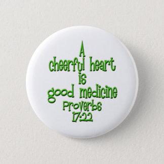 Proverbs 17:22 2 inch round button
