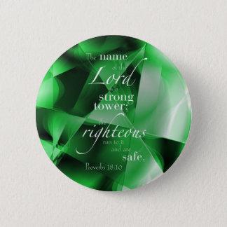 Proverbs 18:10 2 inch round button