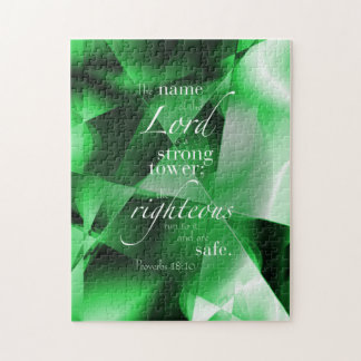 Proverbs 18:10 jigsaw puzzle