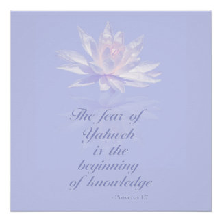 Proverbs 1:7| Bible Quote | Lavender Floral Poster