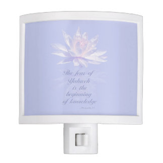 Proverbs 1:7   Bible Verse   Lavender Floral Night Lites