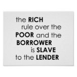 Proverbs 22:7 The rich rule over Bible Dave Ramsey Poster