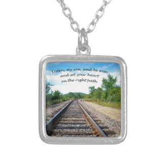 Proverbs 23:19 silver plated necklace