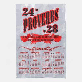 Proverbs 24:28 2016 Calendar Towel