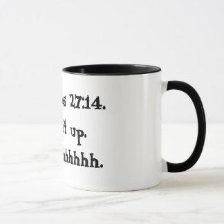 Proverbs 27:14 Mug Black and White