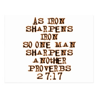 Proverbs 27:17 postcard