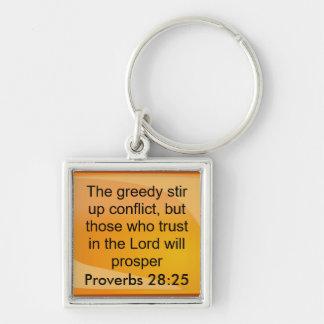 proverbs 28:25 keychin keychain