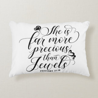 Proverbs 31:10 accent pillow