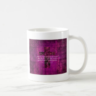 Proverbs 31:25 Inspirational Bible Verse  Women Coffee Mug