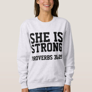 PROVERBS 31:25 SHE IS STRONG, Christian T-shirts