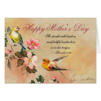 Proverbs 31:26, Bible Verse, Mother's Day Card