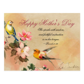 Proverbs 31:26, Bible Verse, Mother's Day Postcard