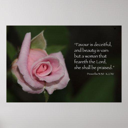 Proverbs 31 30 Scripture Print Zazzle