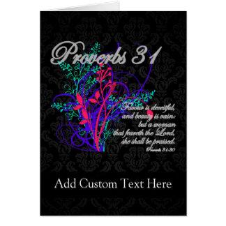 Proverbs 31 Bible Christian Women's Card