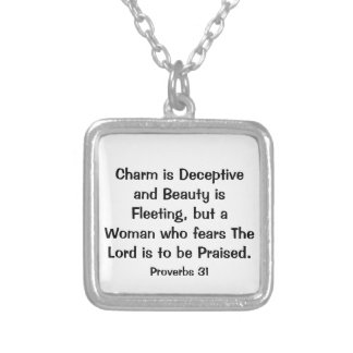 Proverbs 31 Bible Verse Necklace