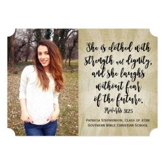 Proverbs 31 Christian Bible Verse Photo Graduation Card