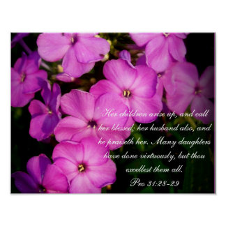 Proverbs 31 Collection ~ Pro 31:28-29 Poster