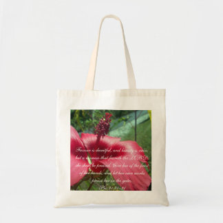 Proverbs 31 Collection ~ Pro 31:30-31 Tote Bag