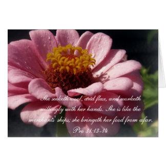 Proverbs 31 Collection ~ Proverbs 31:13-14 Card