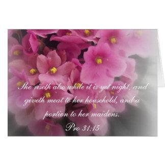 Proverbs 31 Collection ~ Proverbs 31:15 Card