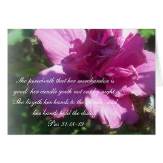 Proverbs 31 Collection ~ Proverbs 31: 18-19 Card
