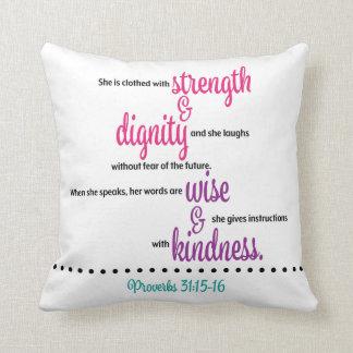 Proverbs 31 Throw Pillow