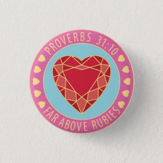 Proverbs 31 Virtuous Woman Far Above Rubies Pin