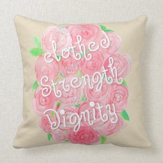 Proverbs 31 Watercolor Throw Pillow