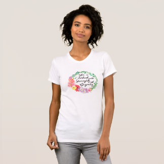 Proverbs 31 Woman Clothed with Strength & Dignity T-Shirt