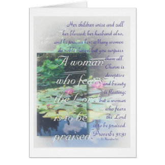 Proverbs 31 woman Mother's Day card