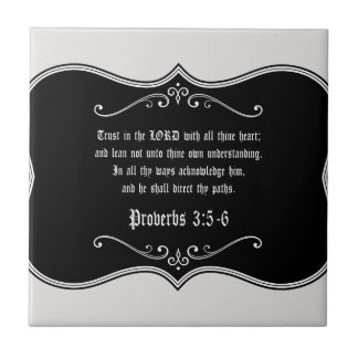 Proverbs 3:5-6 Bible Verse Custom Christian Gift Tile