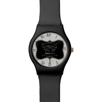 Proverbs 3:5-6 Bible Verse Custom Christian Gift Watch
