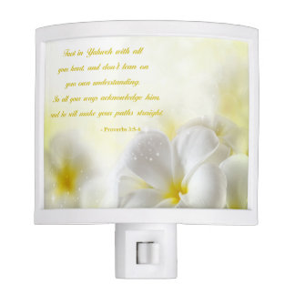Proverbs 3:5-6   Bible Verse   Yellow Floral Nite Lights