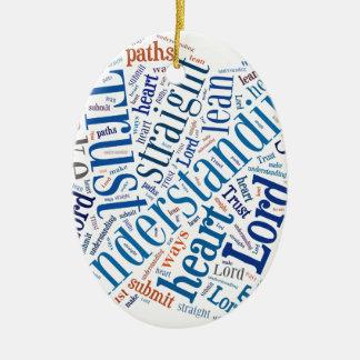 Proverbs 3:5-6 ceramic oval ornament