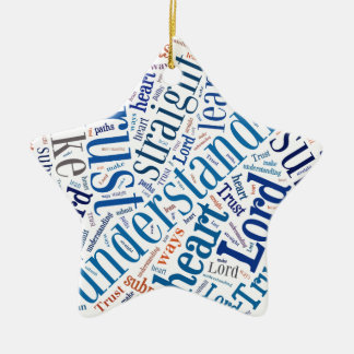 Proverbs 3:5-6 ceramic star ornament