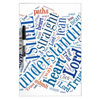 Proverbs 3:5-6 dry erase whiteboards