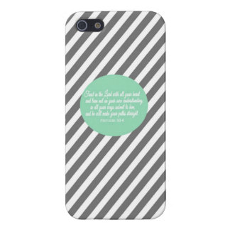 Proverbs 3:5-6 Iphone Phone Case Cover Religious iPhone 5 Case