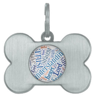 Proverbs 3:5-6 pet tags