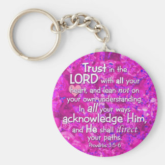 Proverbs 3:5-6 Trust in the Lord Bible Verse Keychain
