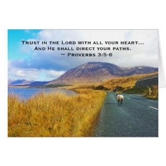 Proverbs 3:5-6 Trust the Lord, Beautiful Ireland Card