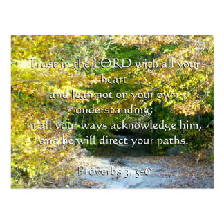 Proverbs 3, 5-6 trust with your heart card