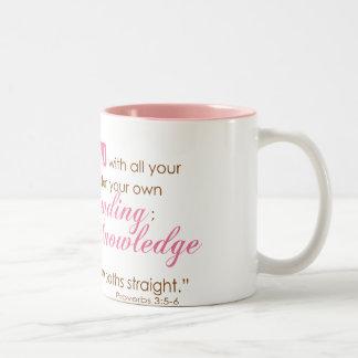 Proverbs 3:5-6 Two-Tone coffee mug