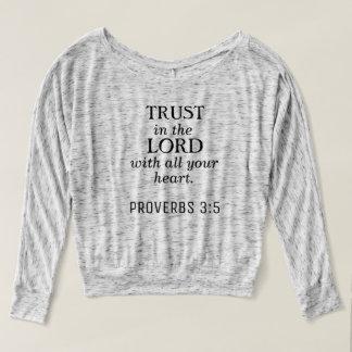 Proverbs 3:5 Christian Long Sleeve Tee Shirt